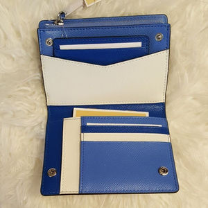 NEW Michael Kors Blue Multi Carryall Card Wallet